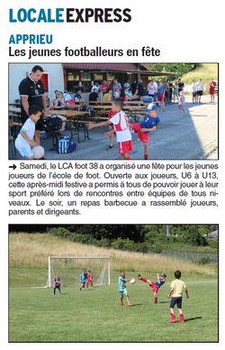 Une après-midi festive était organisée pour les jeunes footballeurs