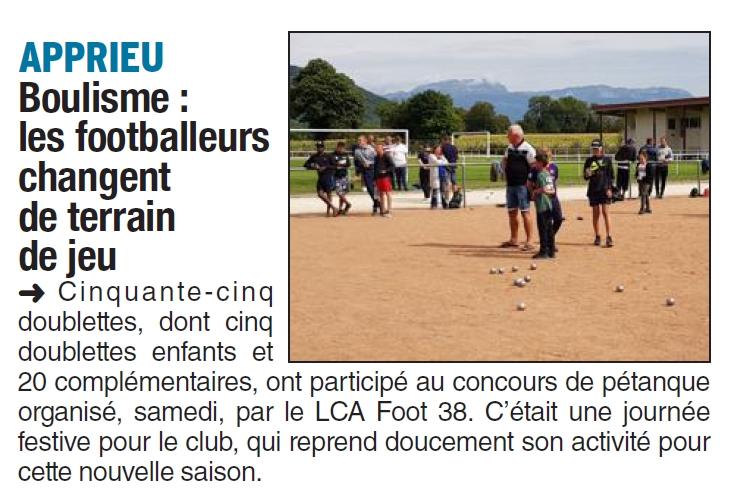 Boulisme : les footballeurs changent de terrain de jeu