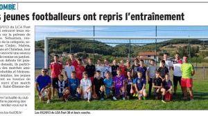 Les jeunes footballeurs ont repris l'entraînement
