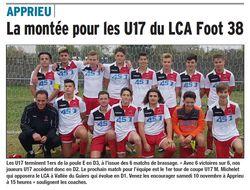 La montée pour les U17 du LCA Foot 38