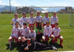 Les Féminines  remportent la coupe de l'Isère en U18