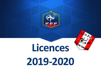 Licences 2019-2020