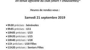 Convocation - Séance photos officielle club