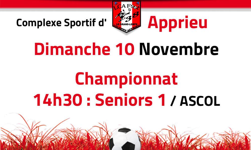 LCA 1 / ASCOL - Dimanche 10 novembre 14h30