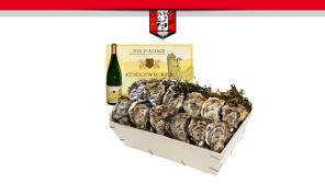 Commande d'huîtres / vin blanc pour les fêtes