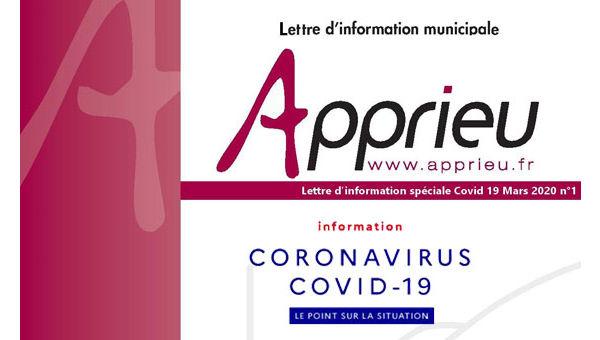 Covid 19 - Lettre d'information de la commune d'Apprieu