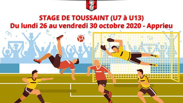Stage de Toussaint - Réservez votre semaine !