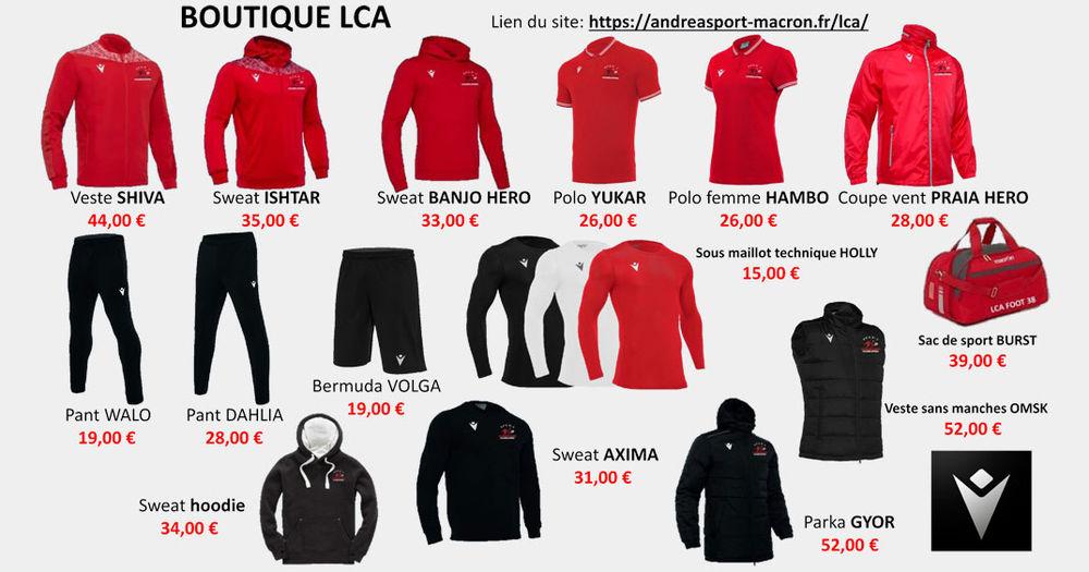 Habillez-vous aux couleurs du LCA !
