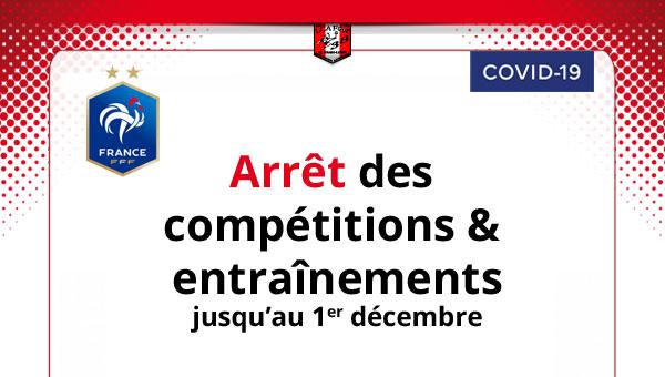Covid-19 : suspension des matchs et entrainements