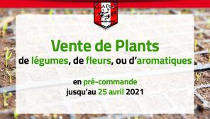 Nouveauté : commandez vos plants pour le 8 mai