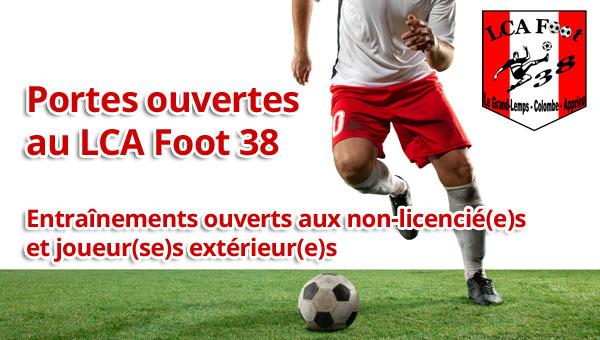 Le LCA Foot 38 ouvre ses portes !