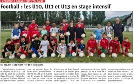 Les U10, U11 et U13 du LCA Foot 38 en stage intensif